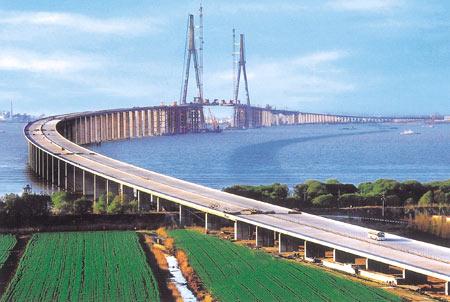 连接南通与上海苏通大桥