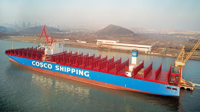 江蘇南通造20000箱級集裝箱船命名交付