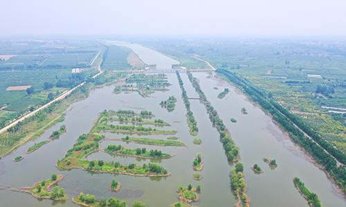 一河碧水一河情 航拍徐州大沙河濕地